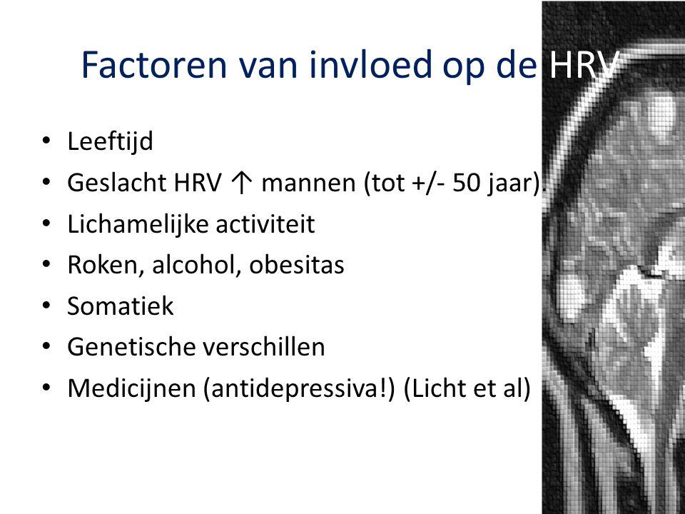 Factoren van invloed op de HRV