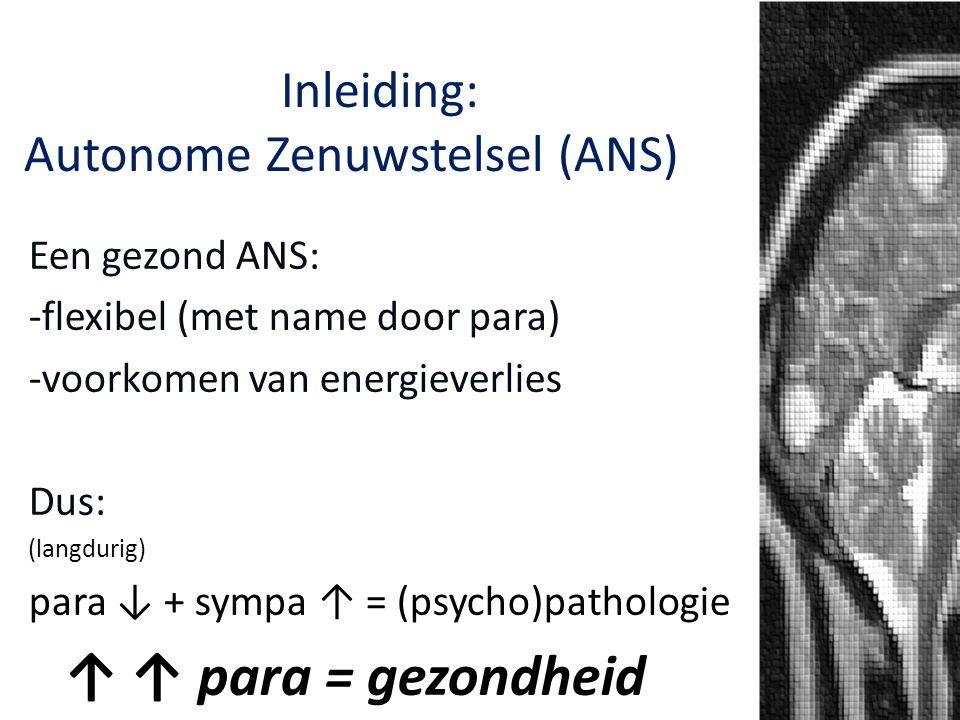 Het Autonome Zenuwstelsel: Inleiding: Autonome Zenuwstelsel (ANS)NS