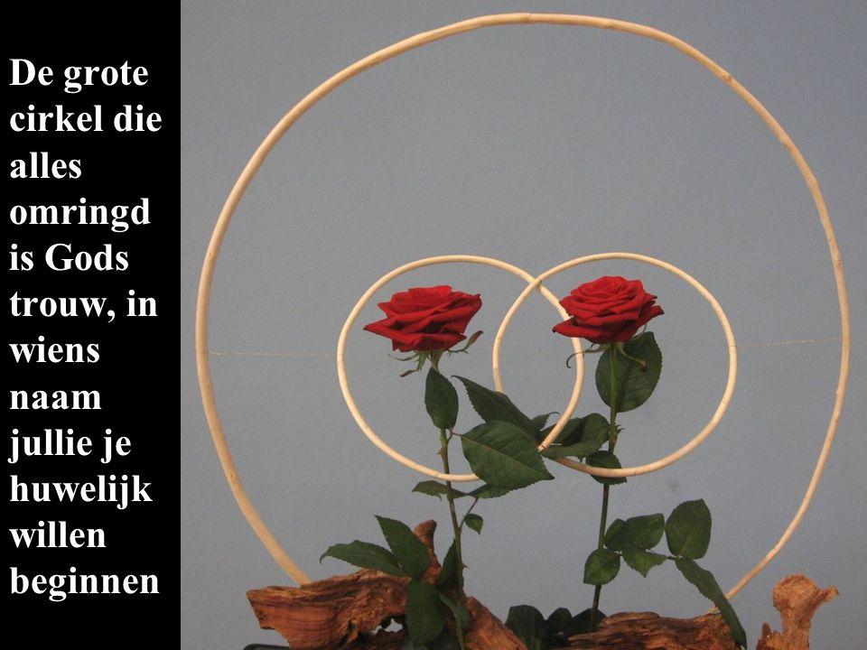 De grote cirkel die alles omringd is Gods trouw, in wiens naam jullie je huwelijk willen beginnen