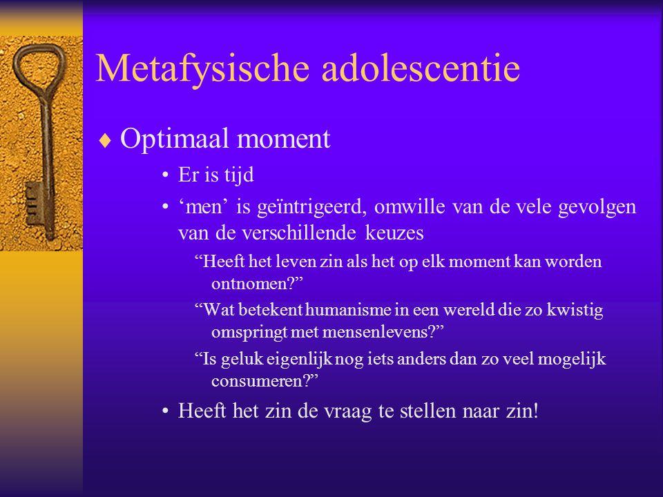 Metafysische adolescentie