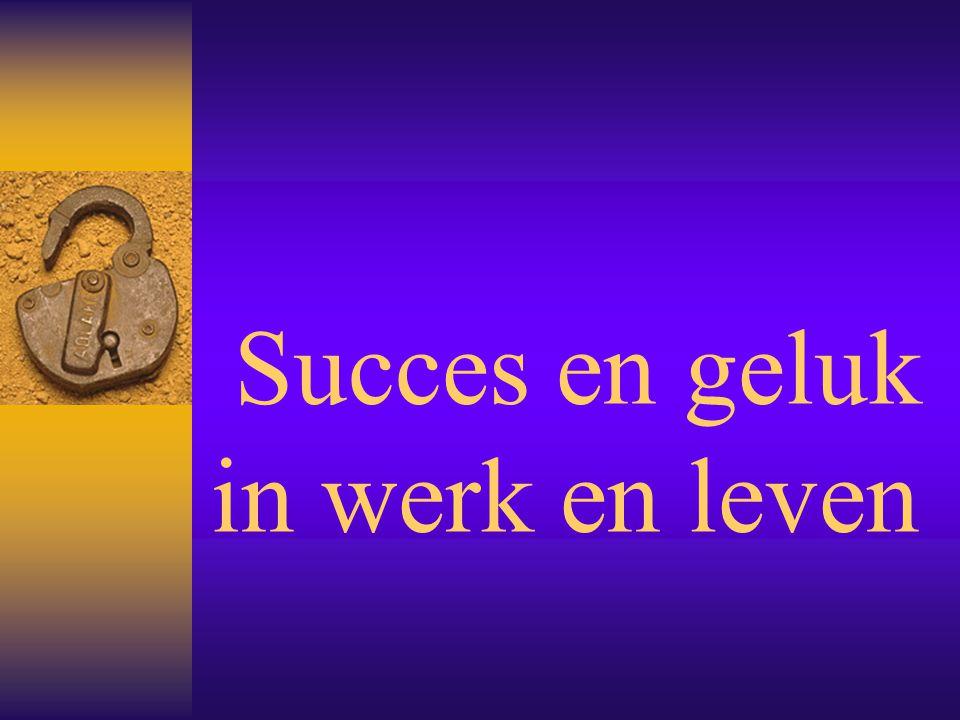Succes en geluk in werk en leven