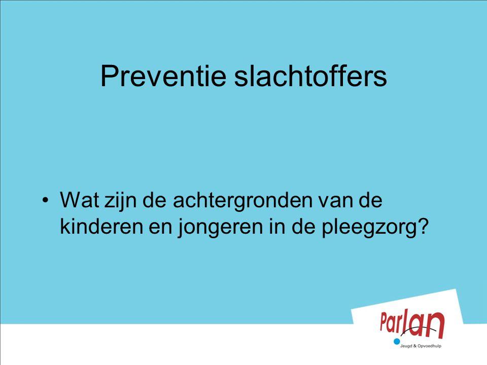 Preventie slachtoffers