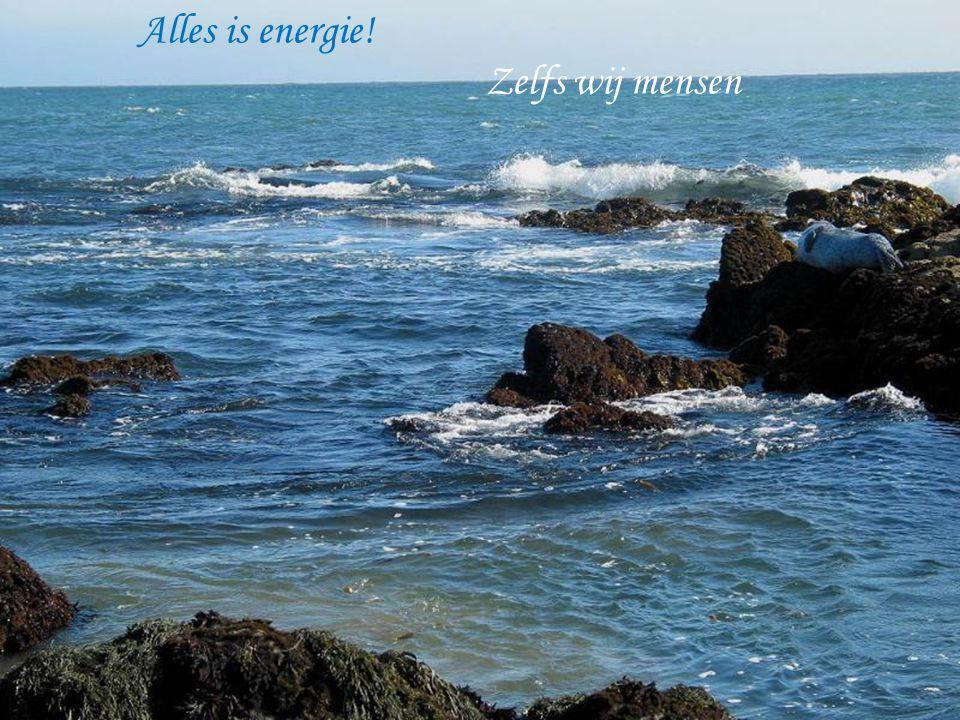 Alles is energie! Zelfs wij mensen