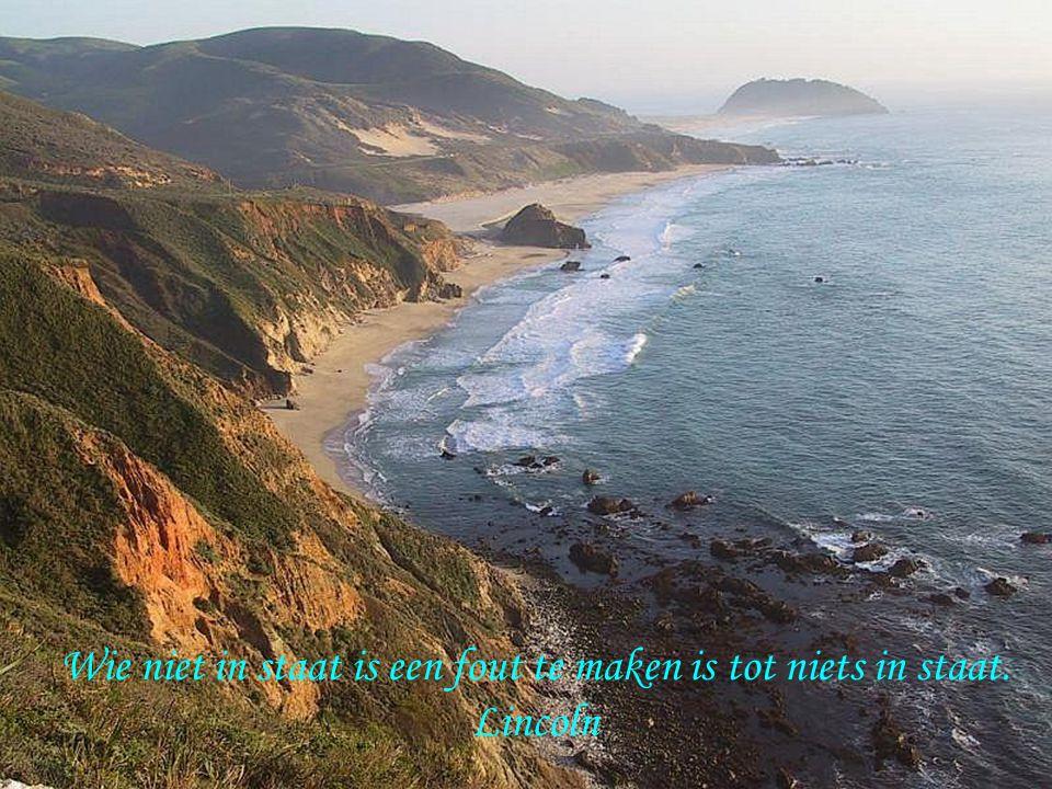 Wie niet in staat is een fout te maken is tot niets in staat.