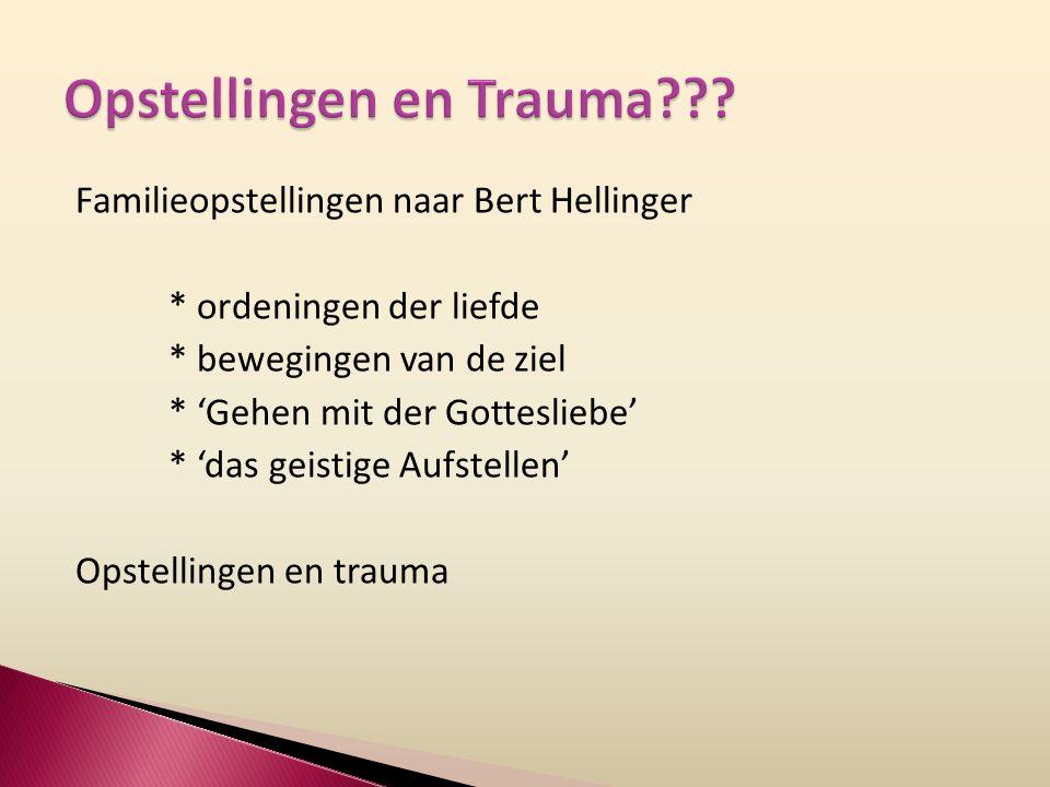 Opstellingen en Trauma