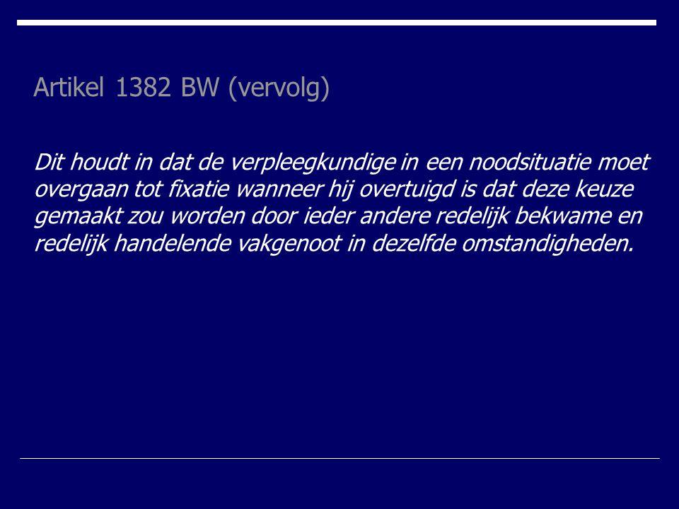 Artikel 1382 BW (vervolg)