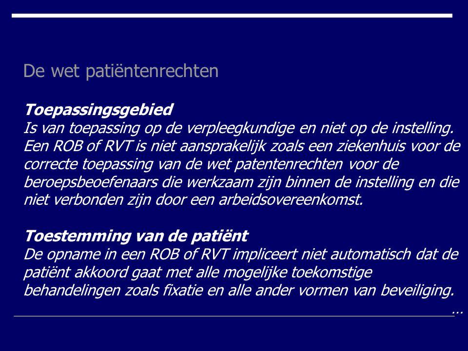 De wet patiëntenrechten