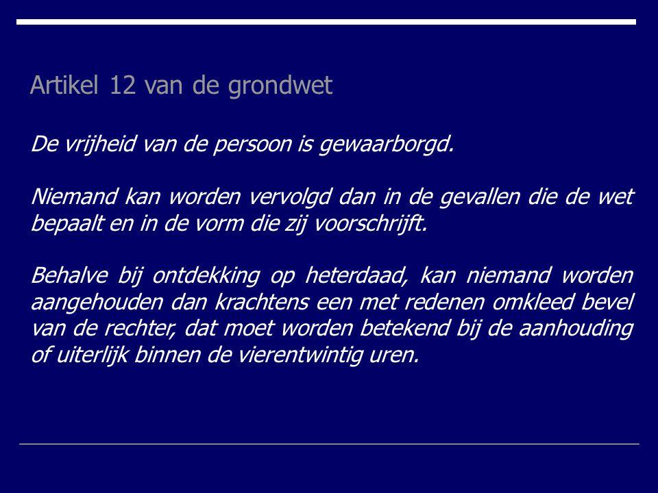 Artikel 12 van de grondwet