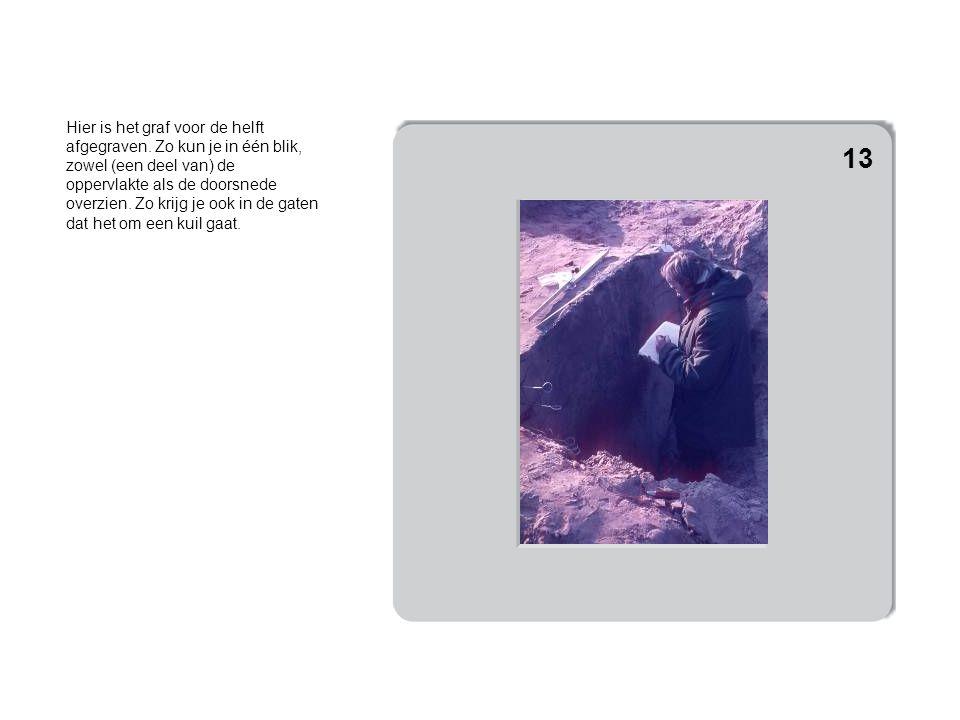 Hier is het graf voor de helft afgegraven