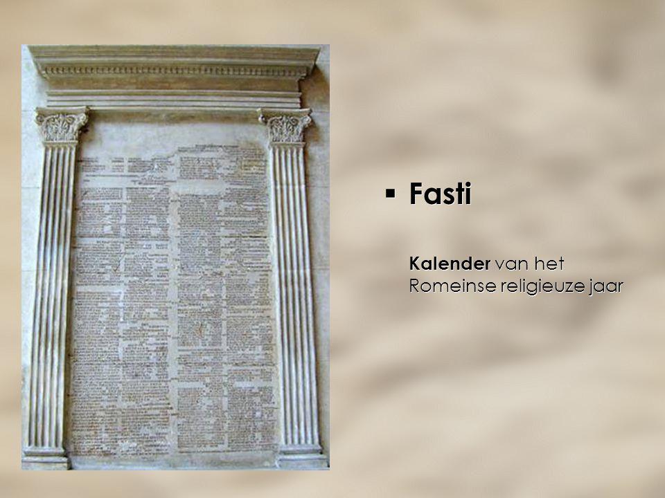 Fasti Kalender van het Romeinse religieuze jaar