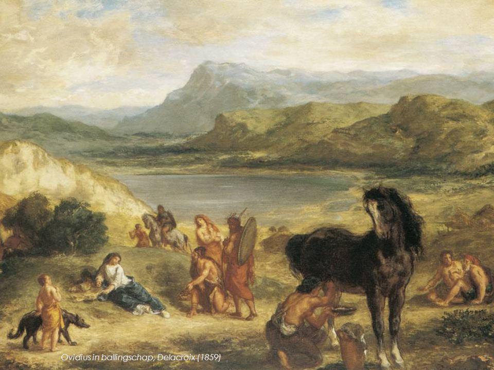 Ovidius in ballingschap, Delacroix (1859)