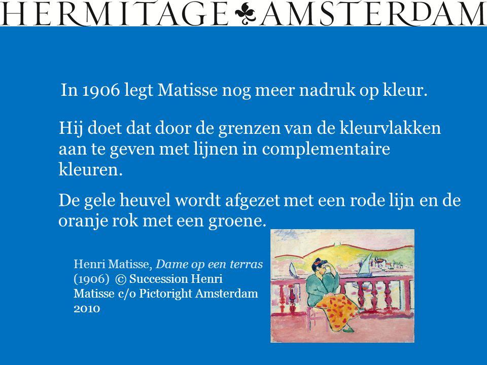 In 1906 legt Matisse nog meer nadruk op kleur.