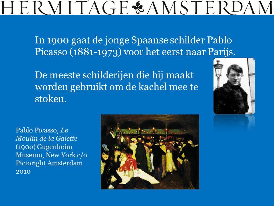 In 1900 gaat de jonge Spaanse schilder Pablo Picasso (1881-1973) voor het eerst naar Parijs.