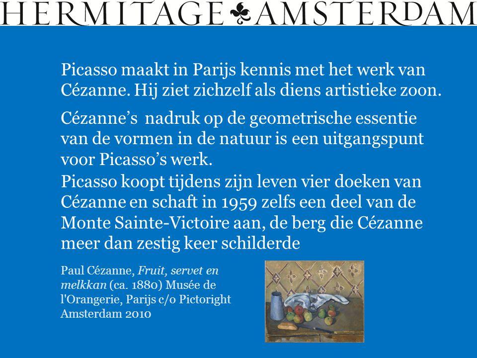 Picasso maakt in Parijs kennis met het werk van Cézanne
