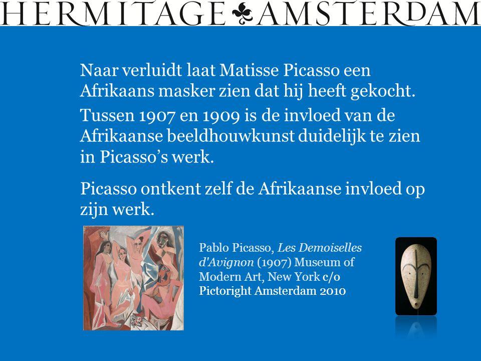 Picasso ontkent zelf de Afrikaanse invloed op zijn werk.