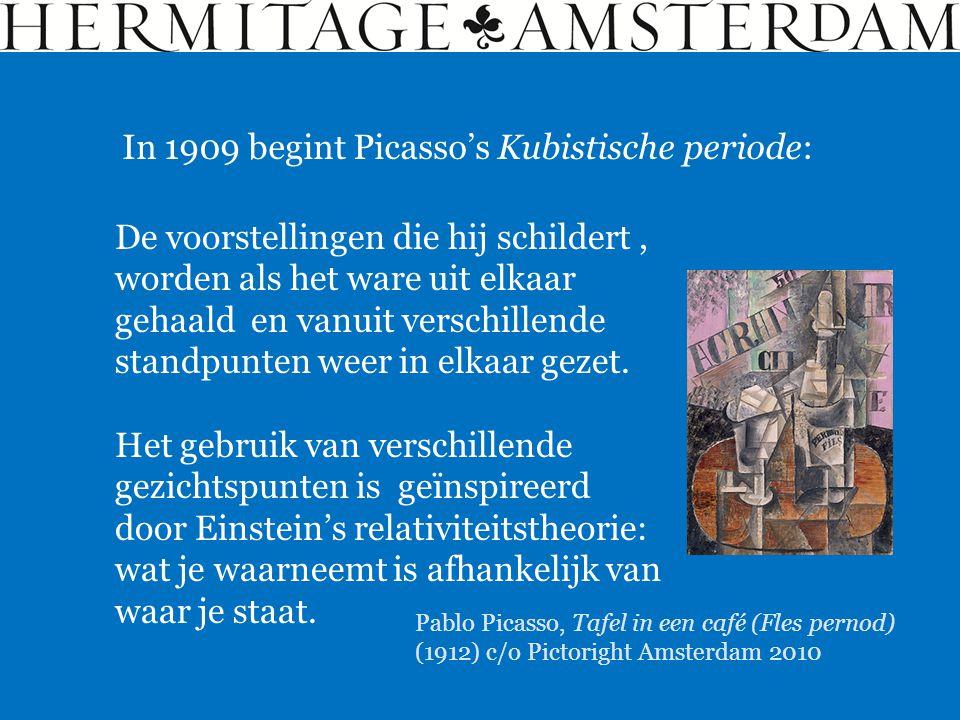 In 1909 begint Picasso's Kubistische periode: