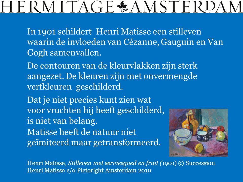 Matisse heeft de natuur niet geïmiteerd maar getransformeerd.