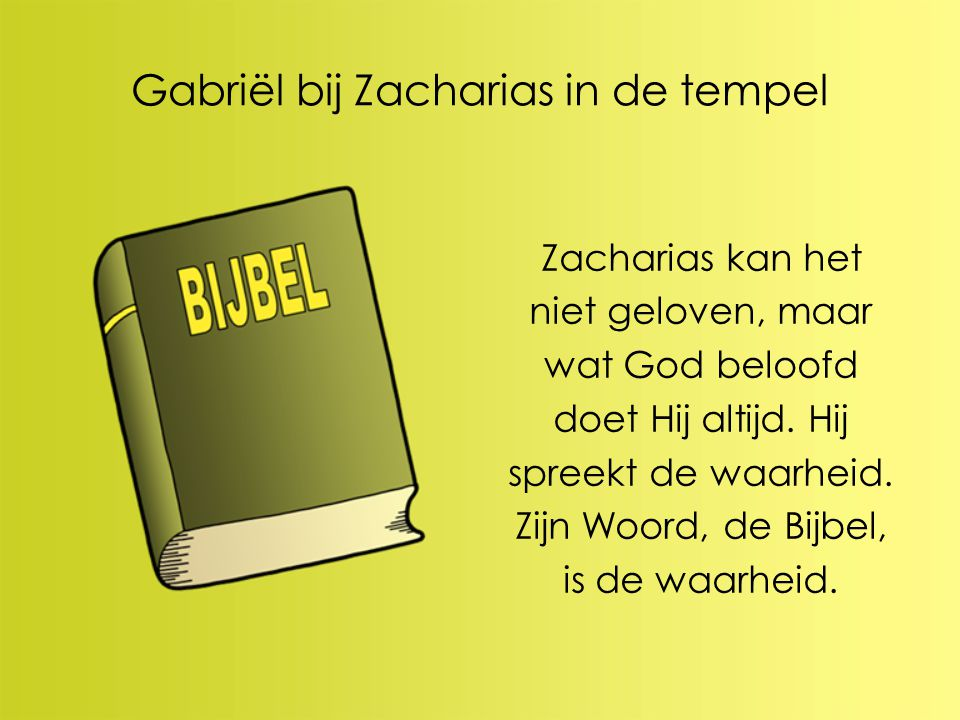 Gabriël bij Zacharias in de tempel