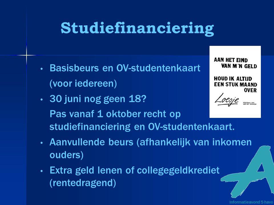 Studiefinanciering Basisbeurs en OV-studentenkaart (voor iedereen)