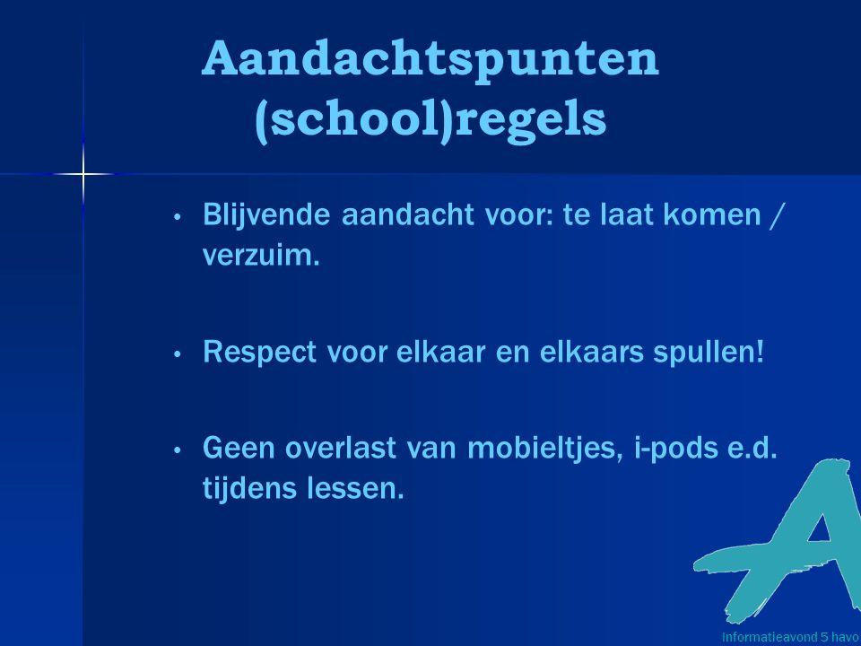 Aandachtspunten (school)regels