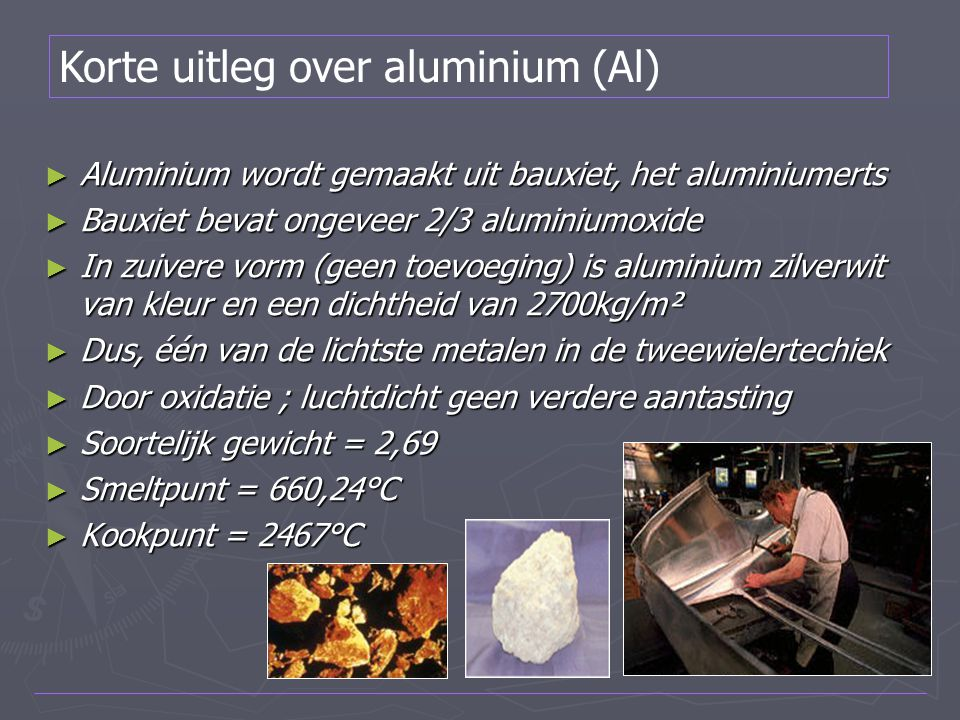 Korte uitleg over aluminium (Al)