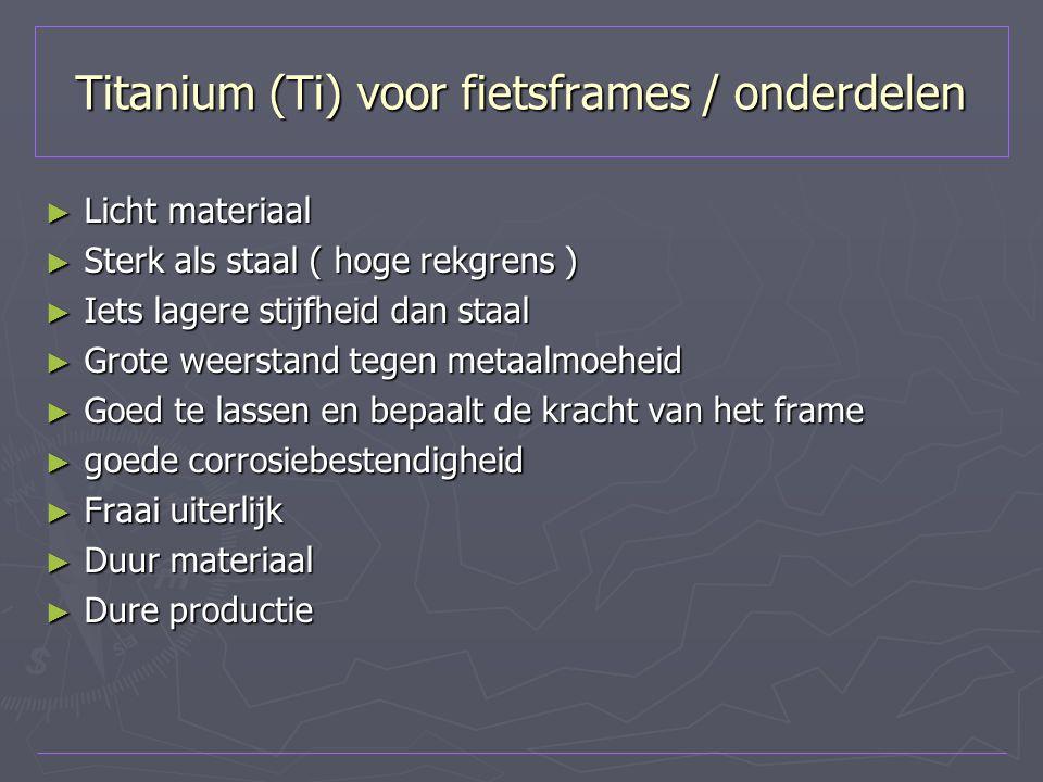 Titanium (Ti) voor fietsframes / onderdelen