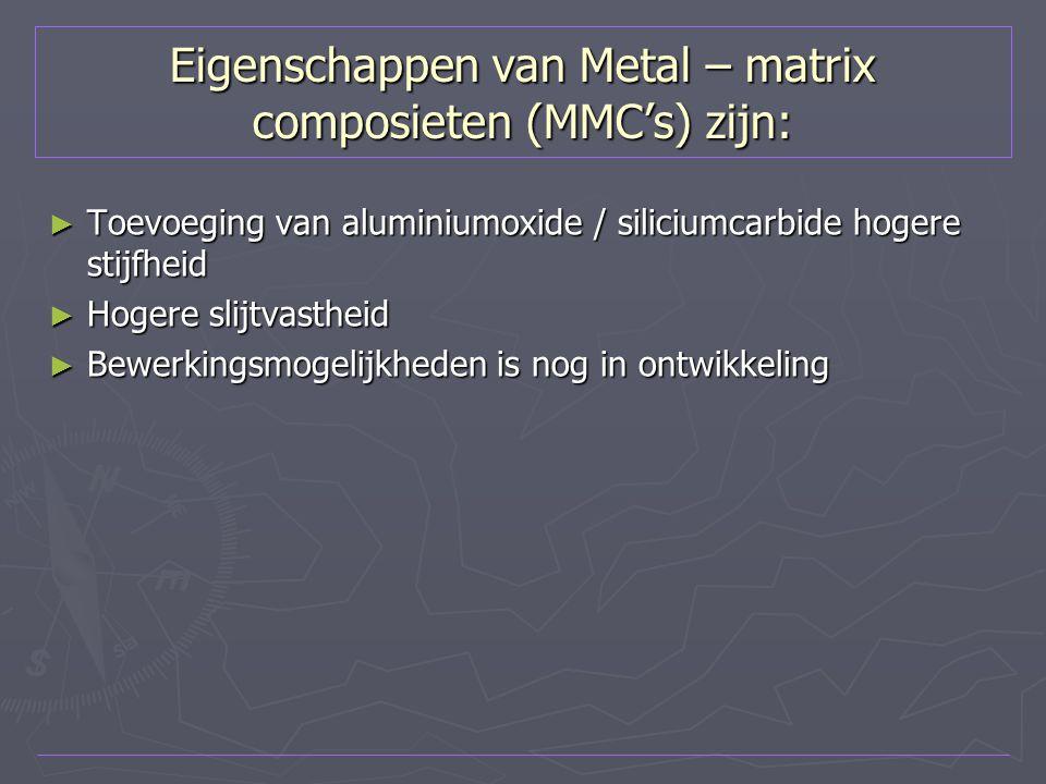 Eigenschappen van Metal – matrix composieten (MMC's) zijn: