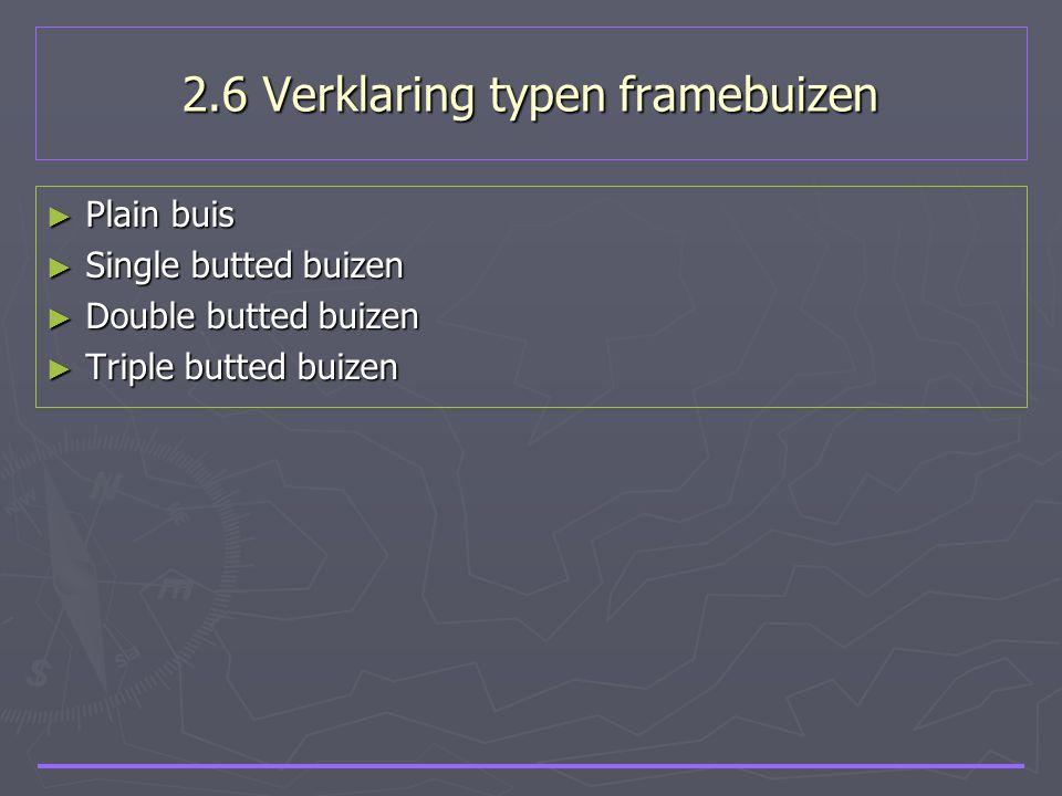 2.6 Verklaring typen framebuizen