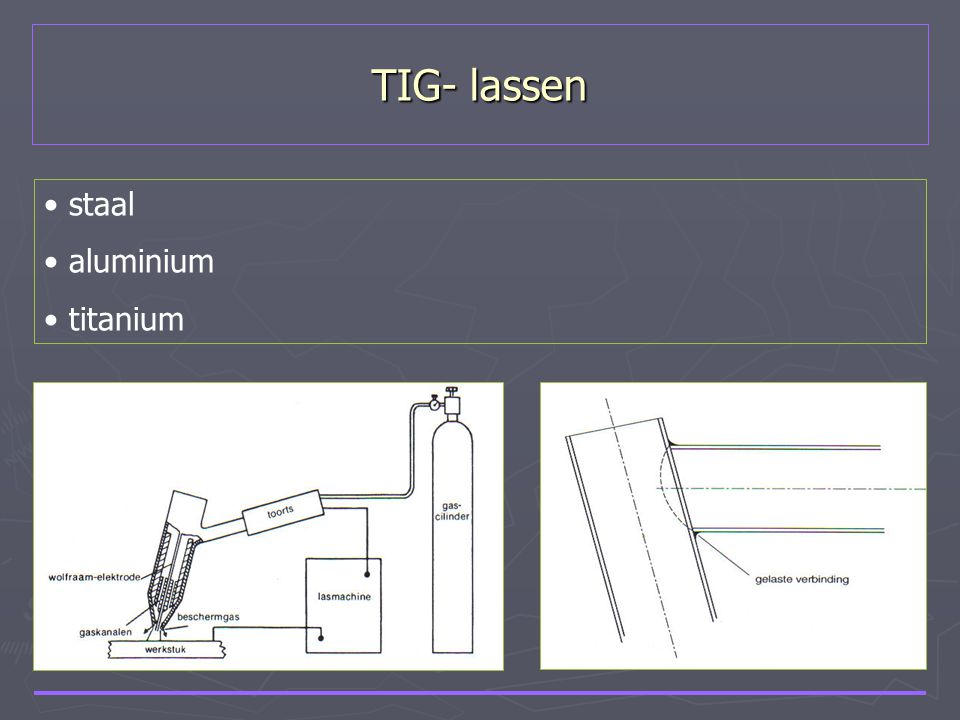 TIG- lassen staal aluminium titanium