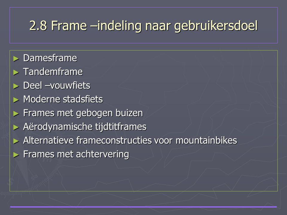 2.8 Frame –indeling naar gebruikersdoel