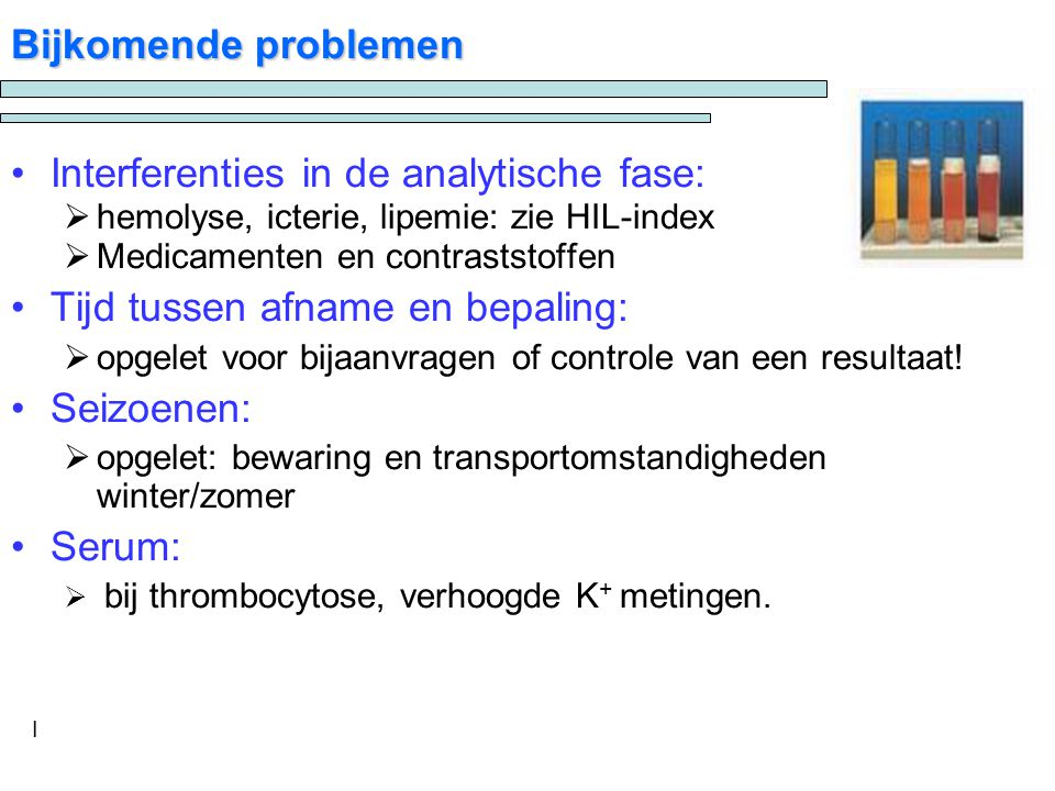 Interferenties in de analytische fase: