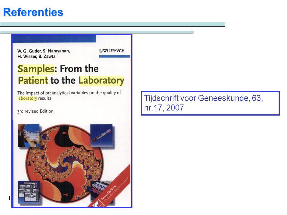 Referenties Tijdschrift voor Geneeskunde, 63, nr.17, 2007 I