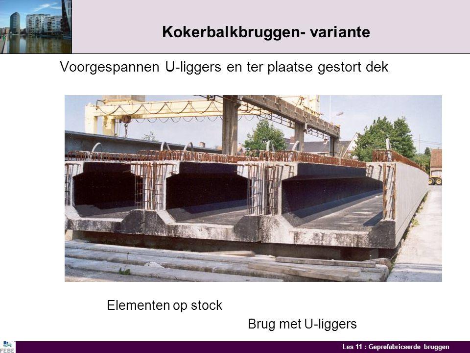 Kokerbalkbruggen- variante