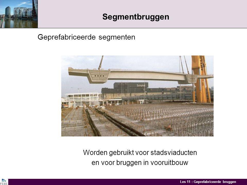 Segmentbruggen Geprefabriceerde segmenten