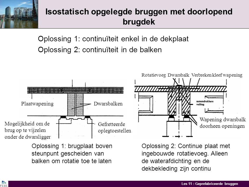 Isostatisch opgelegde bruggen met doorlopend brugdek