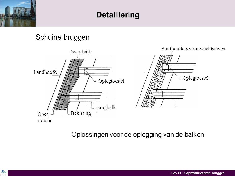 Detaillering Schuine bruggen