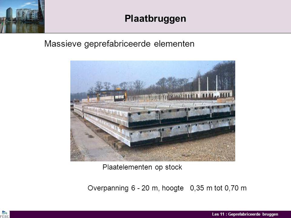 Plaatbruggen Massieve geprefabriceerde elementen