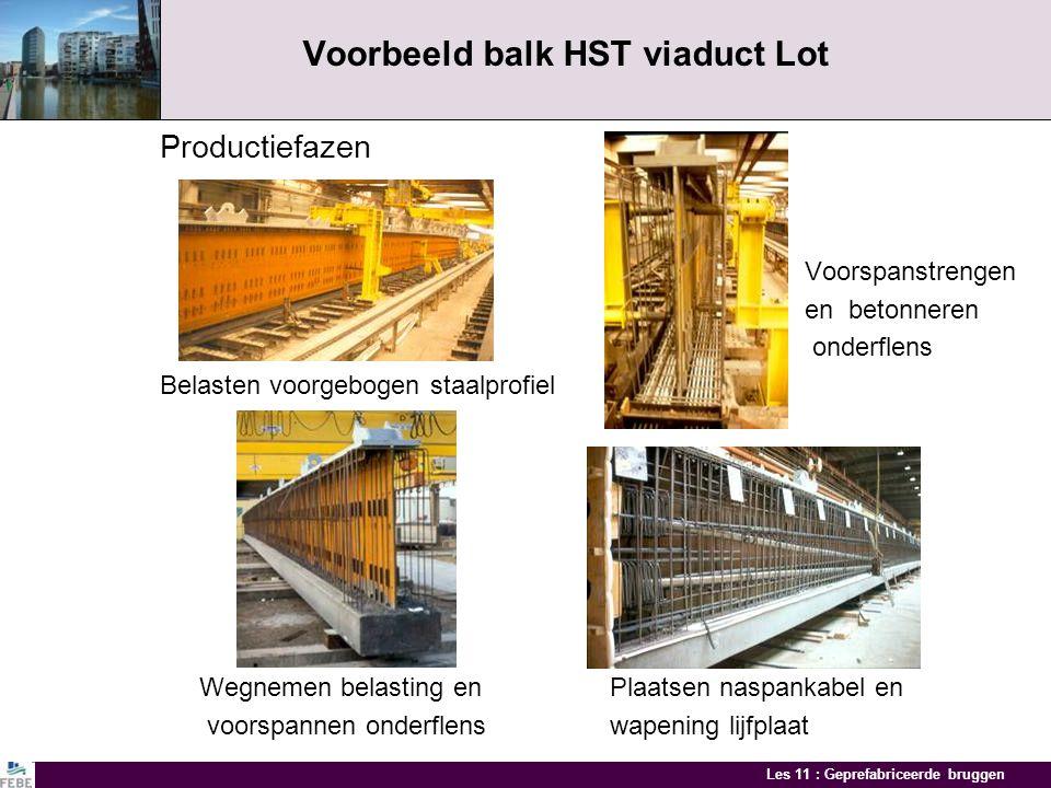 Voorbeeld balk HST viaduct Lot