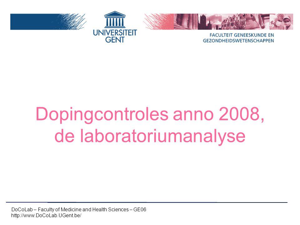 Dopingcontroles anno 2008, de laboratoriumanalyse