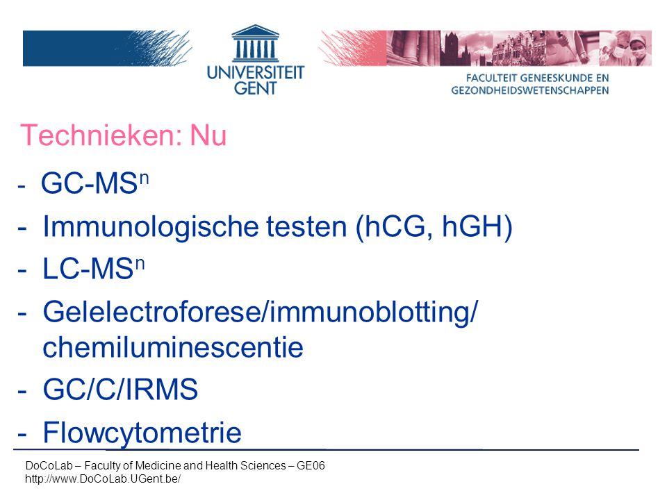 Immunologische testen (hCG, hGH) LC-MSn