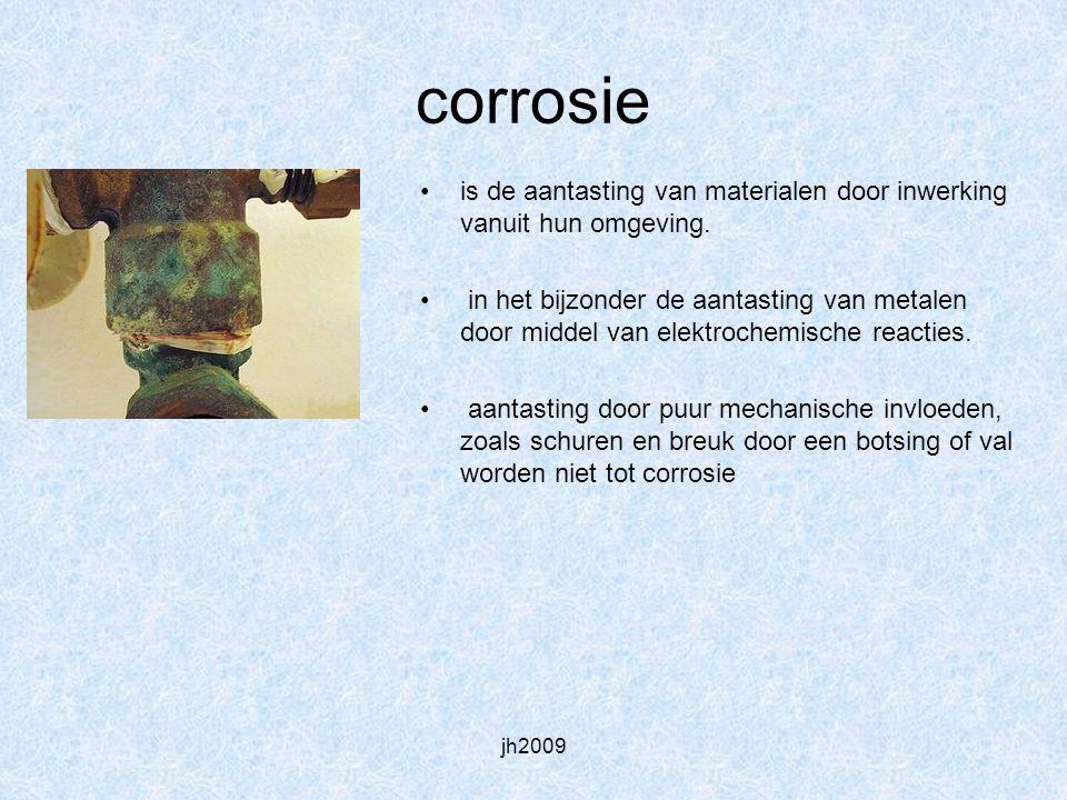 corrosie is de aantasting van materialen door inwerking vanuit hun omgeving.