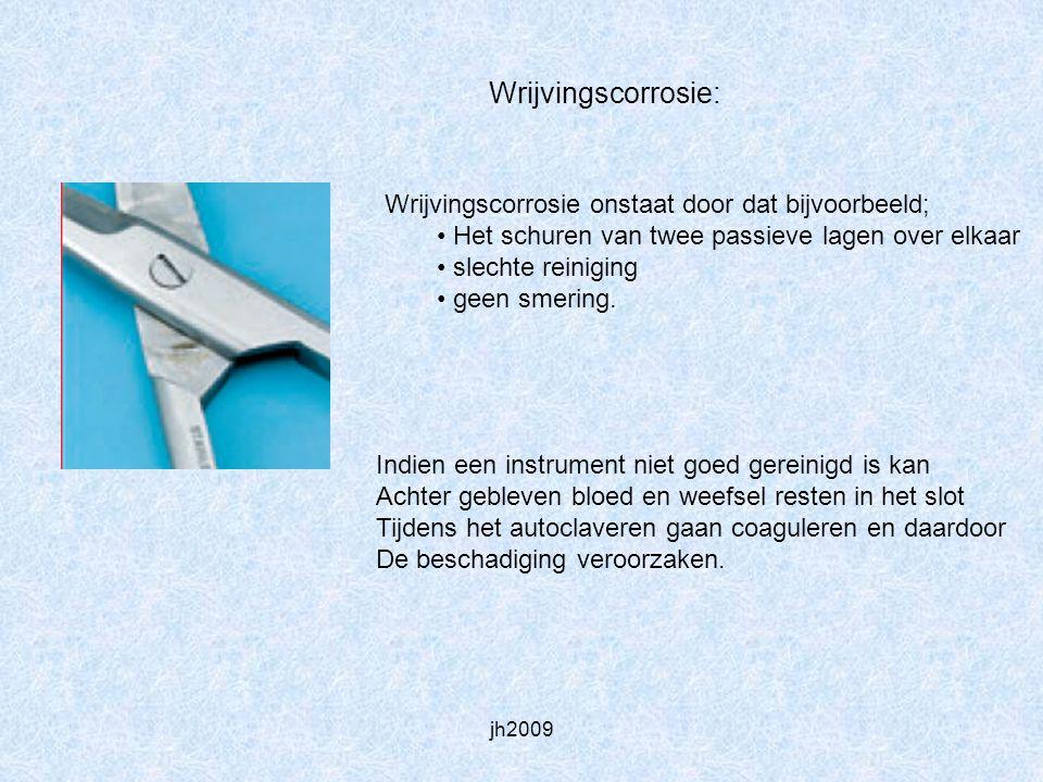 Wrijvingscorrosie: Wrijvingscorrosie onstaat door dat bijvoorbeeld;