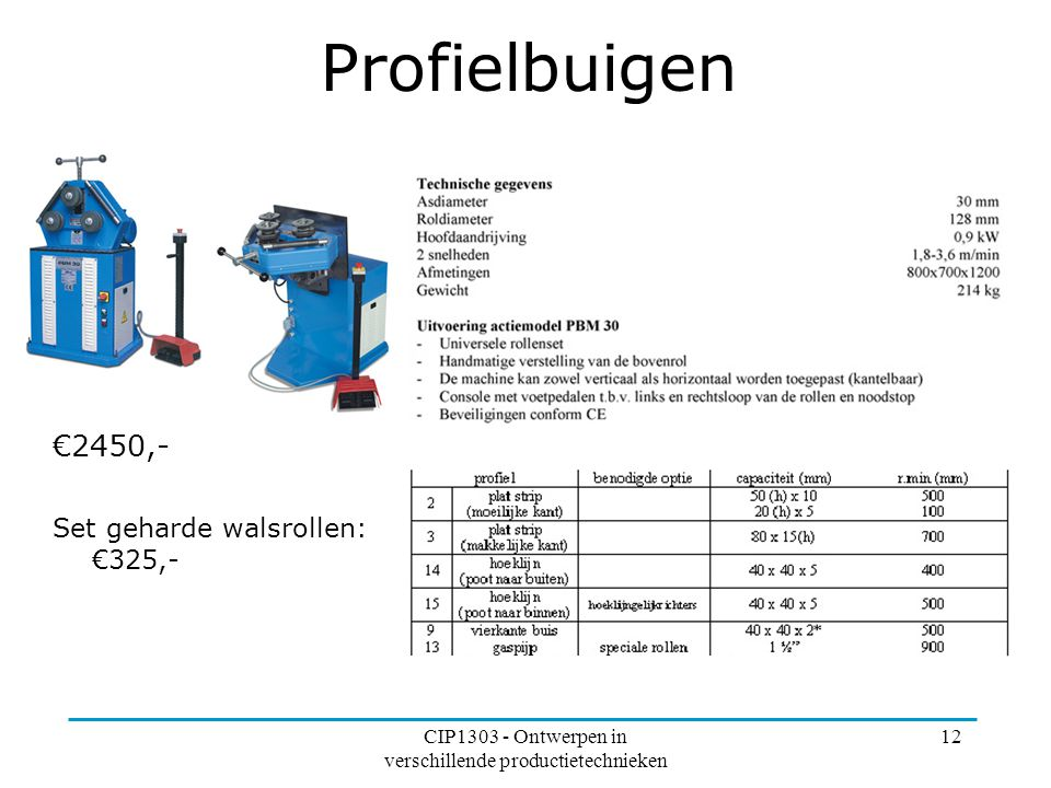 CIP1303 - Ontwerpen in verschillende productietechnieken