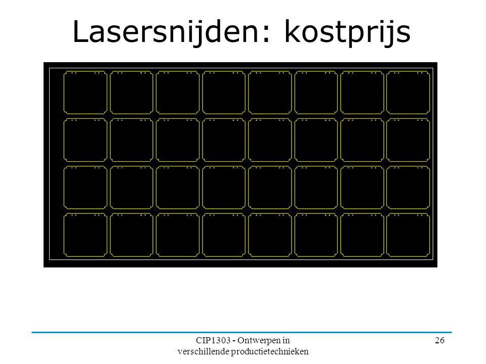 Lasersnijden: kostprijs