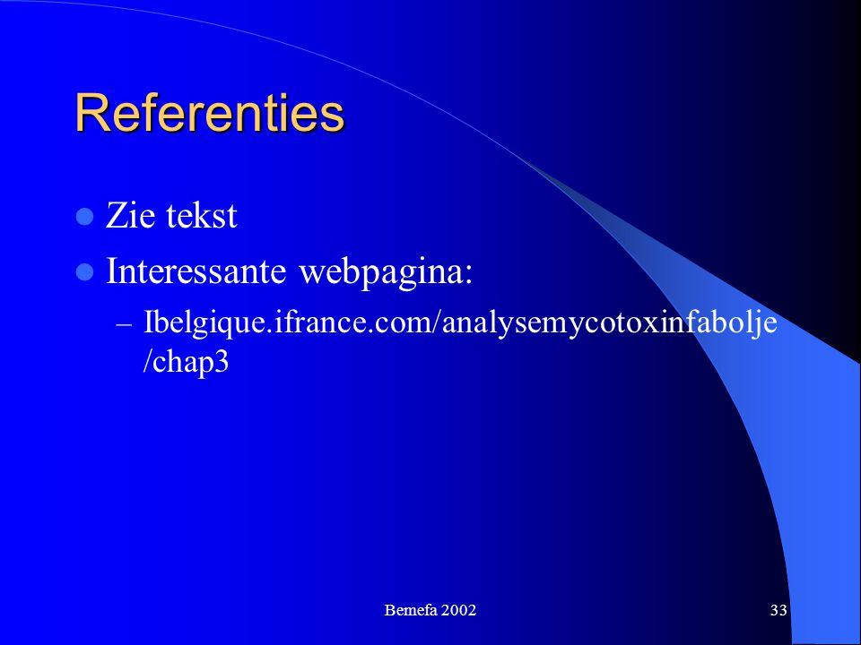 Referenties Zie tekst Interessante webpagina: