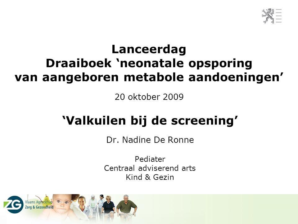 'Valkuilen bij de screening' Dr. Nadine De Ronne