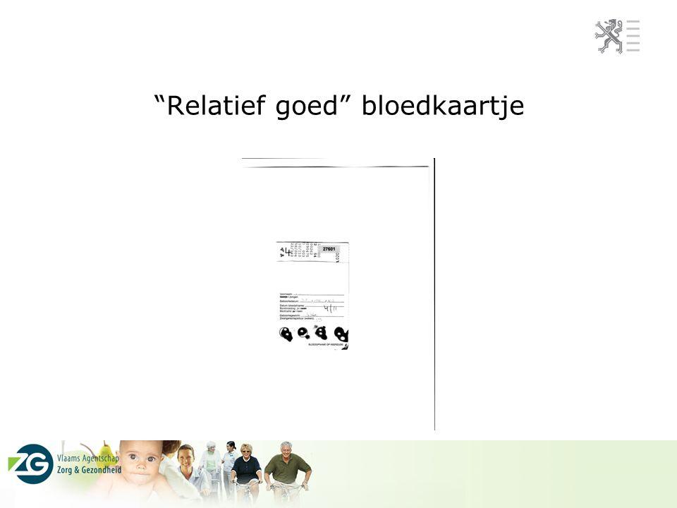 Relatief goed bloedkaartje