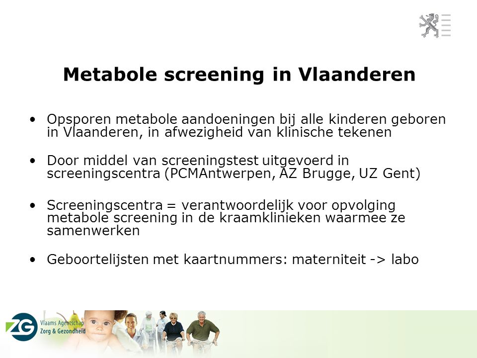 Metabole screening in Vlaanderen