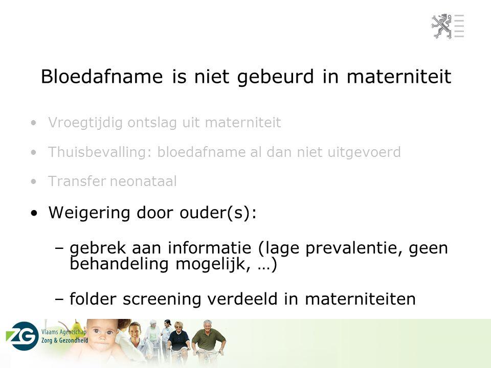 Bloedafname is niet gebeurd in materniteit