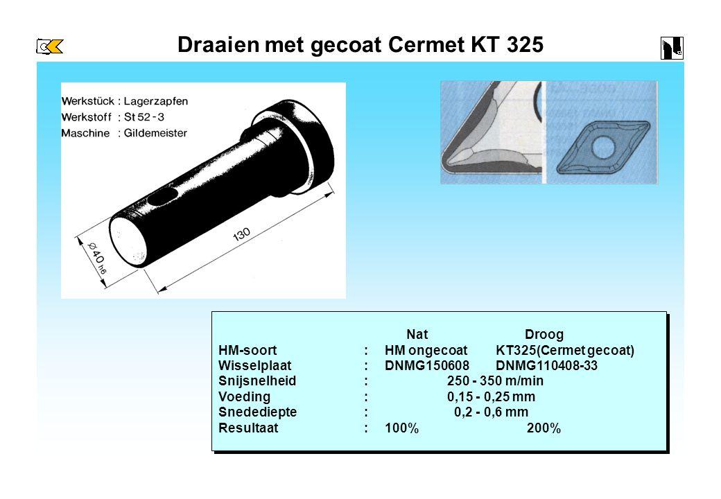 Draaien met gecoat Cermet KT 325